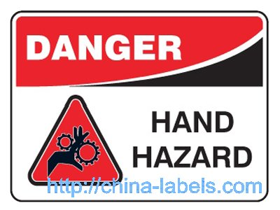 Danger Warning Labels