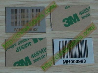 Metal Asset Barcodes Tags
